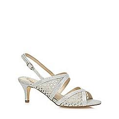Debut - Silver 'Deia' mid kitten heel slingback sandals