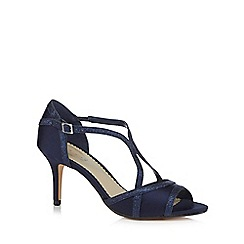 Debut - Navy 'Destiny' high stiletto heel peep toe sandals