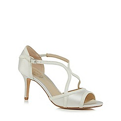 Debut - White 'Destiny' high stiletto heel peep toe sandals
