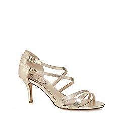 Debut - Gold 'Deja' high stiletto heel peep toe sandals