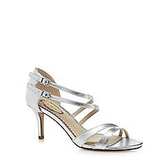 Debut - Silver 'Deja' high stiletto heel peep toe sandals