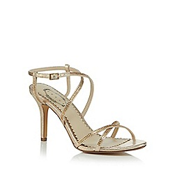Debut - Gold 'Dido' high stiletto heel ankle strap sandals