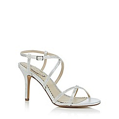 Debut - Silver 'Dido' high heel ankle strap sandals