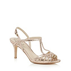 Debut - Gold 'Disco' high stiletto heel sandals