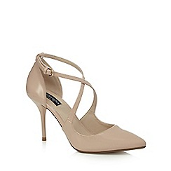 Principles by Ben de Lisi - Natural patent 'Belinda' high stiletto heel pointed toe shoes