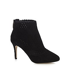 Principles by Ben de Lisi - Black scalloped high stiletto heel ankle boots