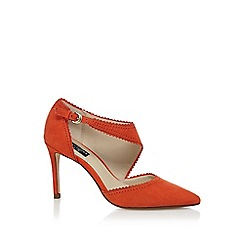 Principles by Ben de Lisi - Orange suedette high stiletto heel court shoes