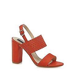 Principles by Ben de Lisi - Orange 'Blake' high block heel slingback sandals