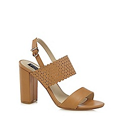 Principles by Ben de Lisi - Tan 'Blake' high block heel slingback sandals