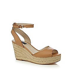 Principles by Ben de Lisi - Tan 'Berry' high wedge heel sandals