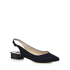 Principles by Ben de Lisi - Navy 'Bay' mid block heel slingback pointed shoes