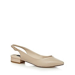 Principles by Ben de Lisi - Natural 'Bay' mid block heel slingback pointed shoes
