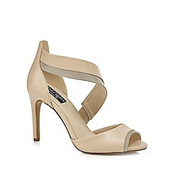 Principles by Ben de Lisi - Natural 'Bunny' high stiletto heel peep toe sandals