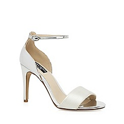 Principles by Ben de Lisi - Silver 'Bonni' high stiletto heel ankle strap sandals