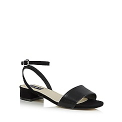 Principles by Ben de Lisi - Black 'Bonita' mid block heel ankle strap sandals