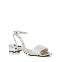 Principles by Ben de Lisi - Silver 'Bonita' mid block heel ankle strap sandals
