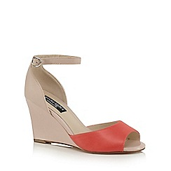 Principles by Ben de Lisi - Coral 'Bambi' high wedge heel ankle strap sandals