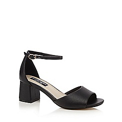 Principles by Ben de Lisi - Black 'Breezy' mid block heel ankle strap sandals