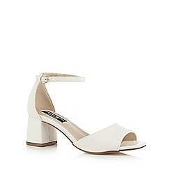 Principles by Ben de Lisi - White 'Breezy' mid block heel ankle strap sandals