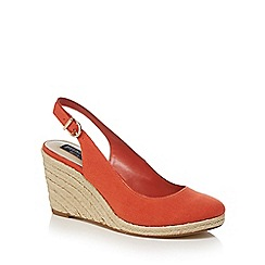 Principles by Ben de Lisi - Orange 'Bessie' high wedge heel slingback sandals