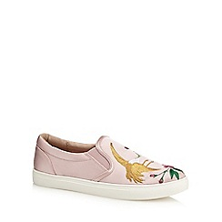 Nine by Savannah Miller - Pink satin slip on trainers