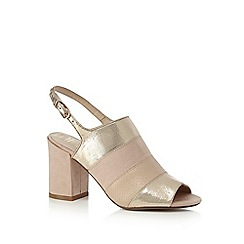 Nine by Savannah Miller - Light pink 'Stephanie' mid block heel slingbacks