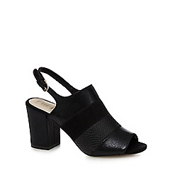 Nine by Savannah Miller - Black 'Stephanie' mid block heel slingbacks