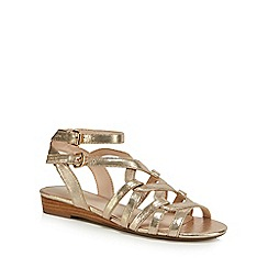 Nine by Savannah Miller - Gold 'Sunny' gladiator sandals