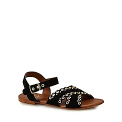 Nine by Savannah Miller - Black suede 'Sully' ankle strap sandals