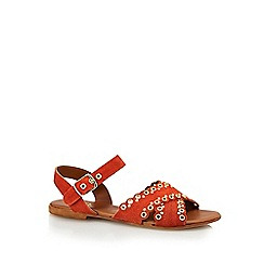 Nine by Savannah Miller - Dark orange suede 'Sully' ankle strap sandals