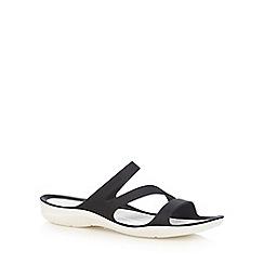 Crocs - Black 'Swiftwater' flip flops