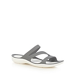Crocs - Grey 'Swiftwater' flip flops
