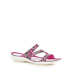 Crocs - Pink 'Swiftwater' flip flops