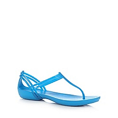 Crocs - Blue 'Isabella' t-bar sandals