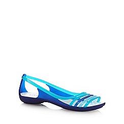 Crocs - Blue 'Isabella Huarache' flip flops