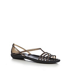 Crocs - Black 'Isabella' t-bar sandals
