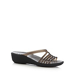 Crocs - Black 'Isabella Mini' t-bar sandals