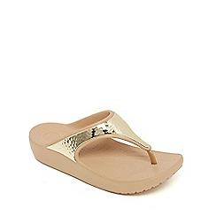 Crocs - Gold 'Sloane' flip flops