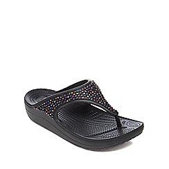 Crocs - Black 'Sloane' flip flops