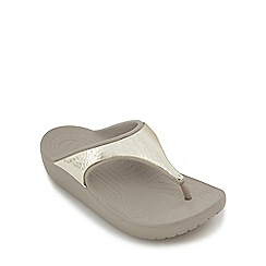Crocs - Dark grey 'Sloane' flip flops