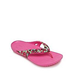 Crocs - Pink 'Kadee' flip flops