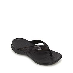 Crocs - Black 'Capri' flip flops