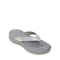 Crocs - Grey 'Capri' flip flops