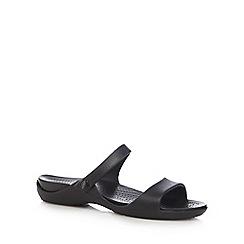 Crocs - Black 'Cleo V' flip flops