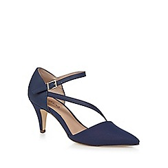 Call It Spring - Navy 'Migiana' mid kitten heel ankle strap sandals