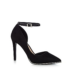Call It Spring - Black suedette 'Exerina' high stiletto heel pointed shoes