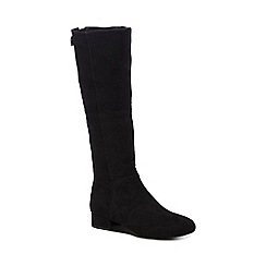 Call It Spring - Black suedette 'Abert' mid block heel knee high boots