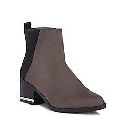 Call It Spring - Dark grey 'Nunalla' mid block heel ankle boots