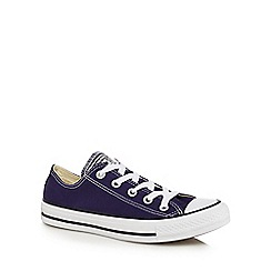 The Collection - Navy canvas 'All Star' trainers
