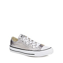 Converse - Silver 'Ctas Ox' trainers
